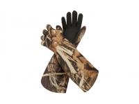 Перчатки универсальные для охоты на водоеме (цвет Realtree Max-5)