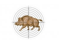 Мишень для пневматики КАБАН 25 м цветная, 140х140 мм (50 шт)