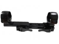 Планка EAW Picatinny быстросъемная регул.рычаги, кольца 30 мм. - сменн. расстояние, высота 12мм., ширина 15мм.