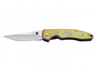 Нож SanRenMu серии EDC лезвие 70 мм (цвет - спектр, рисунок - цветок)