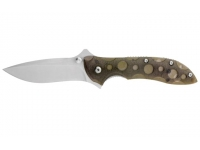 Нож SanRenMu серии Outdoor лезвие 68 мм (рукоять - металл/пластик, цвет - серый)