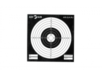 мишени чёрные AIR-GUN.RU из подарочного набора с пистолетом ASG Bersa Thunder 9 Pro