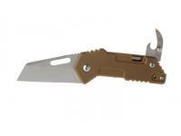 Нож SanRenMu серии EDC лезвие 58 мм (рукоять - G10, цвет - песок)