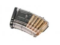 Магазин Pufgun ВПО-136/АК/АКМ/Сайга (10 патронов, полимер, прозрачный, 105 гр)
