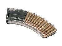 Магазин Pufgun ВПО-136/АК/АКМ/Сайга (30 патронов, полимер, прозрачный, 184 гр)