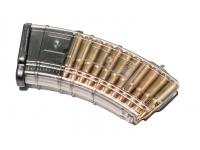 Магазин Pufgun ВПО-136/АК/АКМ/Сайга (20 патронов, полимер, прозрачный, 134 гр)