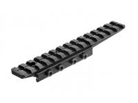 Кронштейн UTG Weaver для призмы 9-11 мм с выносом, высота 15 мм, 3 упора отдачи, 68 гр.