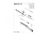 Пневматическая винтовка Gamo Replay-10 Maxxim 3J 4,5 мм взрыв-схема