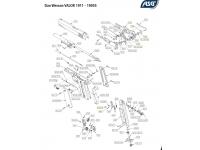 Пневматический пистолет ASG Dan Wesson VALOR 1911 4,5 мм взрыв схема