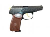 Пневматический пистолет МР-654К-20 (нитр. титана, обронн. грав., КС)