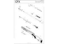 взрыв-схема пневматического пистолета Gamo CFX 3Дж 4,5 мм