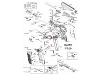 взрыв-схема пневматического пистолета Gamo PT-80 20th Anniversary 4,5 мм