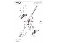 взрыв-схема пневматического пистолета Gamo P-900 Jungle