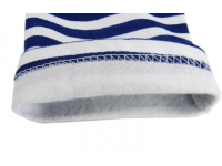 Тельняшка х/б зимняя с начесом с голубой полосой р.54 рукав