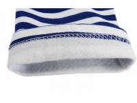 Тельняшка х/б зимняя с начесом с голубой полосой р.52 рукав