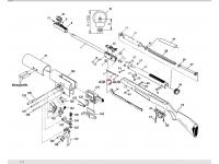 взрыв-схема Diana 350F N-Tec Magnum Panther 4,5 мм