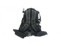 Рюкзак Маршевый косая молния (черный) вид сзади