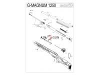Пневматическая винтовка Gamo G-Magnum 1250 3J 4,5 мм взрыв-схема
