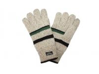 Перчатки теплые бежевые в полоску