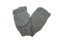 Варежки - перчатки серые
