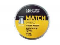 Пули пневматические JSB Yellow Match 4,5 мм 0,52 грамма (500 шт.)