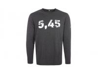 Лонгслив Калашников 5,45 S (темно-серый, хлопок 95%, эластан 5%)