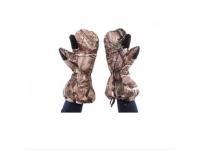 Варежки Baikal XL (коричневые, с клапаном, пристег.к одежде, на гус.пухе)
