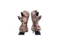 Варежки Baikal L (коричневые, с клапаном, пристег.к одежде, на гус.пухе)