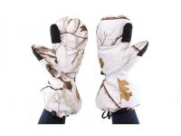 Варежки Baikal L (белые, с клапаном, пристег.к одежде, на гус.пухе)