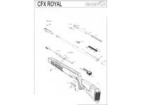 Пневматическая винтовка Gamo CFX Royal 3J 4,5 мм взрыв-схема
