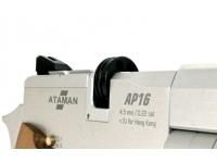 Пневматический пистолет Ataman АР16 Silver стандарт металл 4,5 мм магазин
