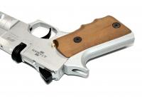 Пневматический пистолет Ataman АР16 Silver стандарт металл 4,5 мм рукоять