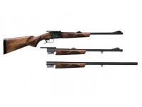 Ружье ТК518М 9,6х53Lancaster + .366Lancaster + 12/76, орех L=520/600/750