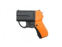 Травматический пистолет Оса М-09 с оранжевой рукояткой и ЛЦУ 18,5х55Т