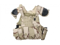 Тактический жилет (разгрузка) буря в пустыне с защитой плеча