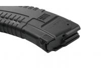 Магазин Pufgun ВПО-136/АК/АКМ/Сайга (30 патронов, зуб металлический, полимер, черный, 189 гр) патроноприемник