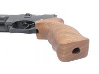 Пневматический пистолет Ataman AP16 стандарт дерево сапеле 5,5 мм (521/SB) рукоять вид снизу