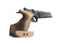 Пневматический пистолет Ataman AP16 стандарт дерево SP 5,5 мм (523/B) рукоять вид сзади