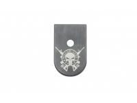 Пятка Grand Power с логотипом 4 (Череп с оружием)