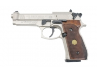 Пневматический пистолет Umarex Beretta 92 FS никель с деревянными рукоятками б/у №H14612035