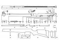 Ось опоры рычага взведения 4х18 Umarex Hammerli Hunter Force 900
