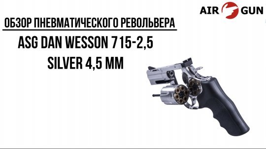 Пневматический револьвер ASG Dan Wesson 715-2,5 silver 4,5 мм