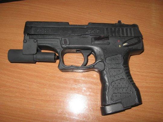 6)Бумажный пистолет