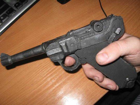 15)Бумажный пистолет