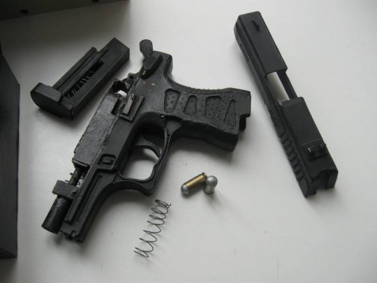 4)Бумажный пистолет