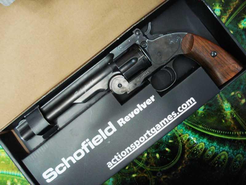 2)Пневматический пулевой револьвер ASG Schofield-6, его достоинства и недостатки