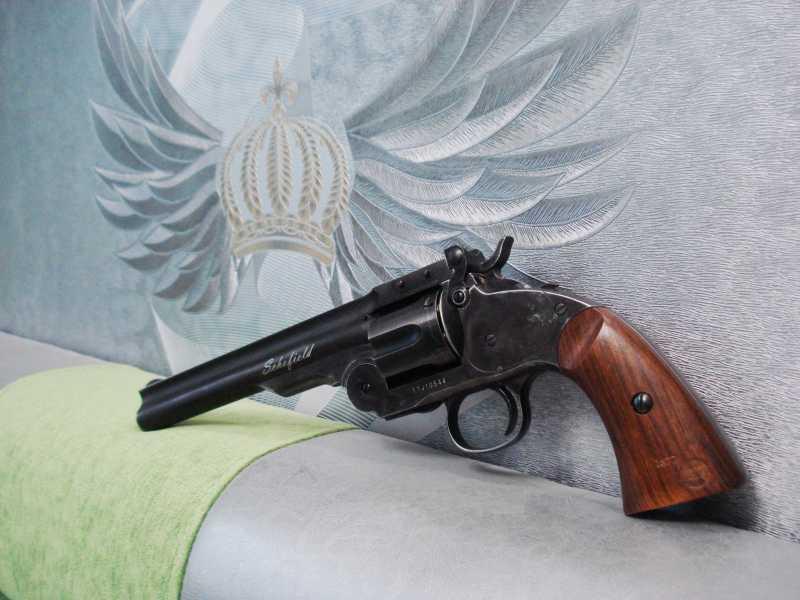 3)Пневматический пулевой револьвер ASG Schofield-6, его достоинства и недостатки