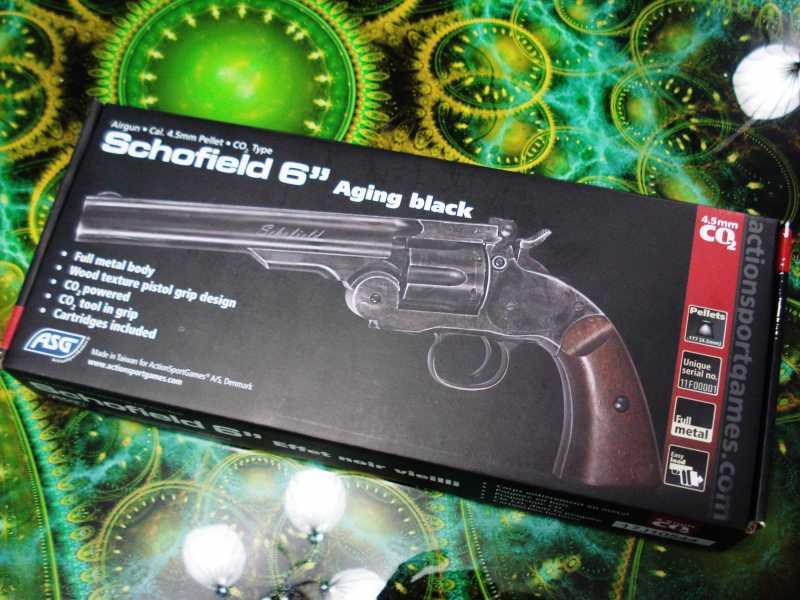 1)Пневматический пулевой револьвер ASG Schofield-6, его достоинства и недостатки