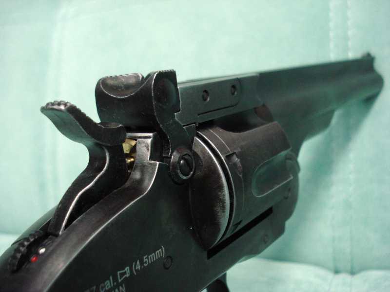 19)Пневматический пулевой револьвер ASG Schofield-6, его достоинства и недостатки