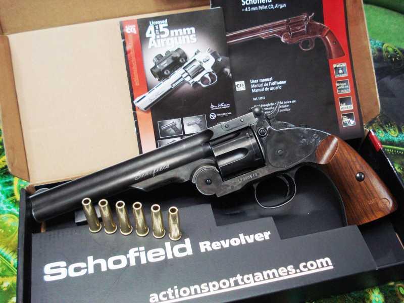 21)Пневматический пулевой револьвер ASG Schofield-6, его достоинства и недостатки
